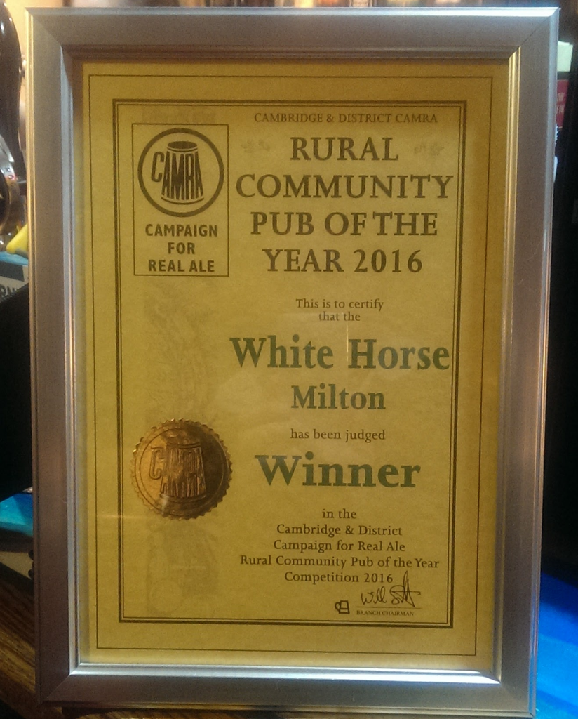 CAMRA Community Pub of the year 2016